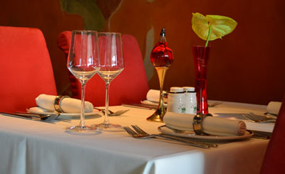 image of table at Indian restaurant